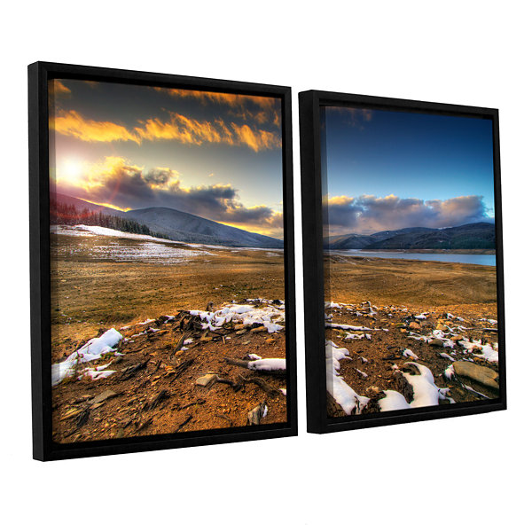 Brushstone The Winter Sun 2-pc. Floater Framed Canvas Wall Art