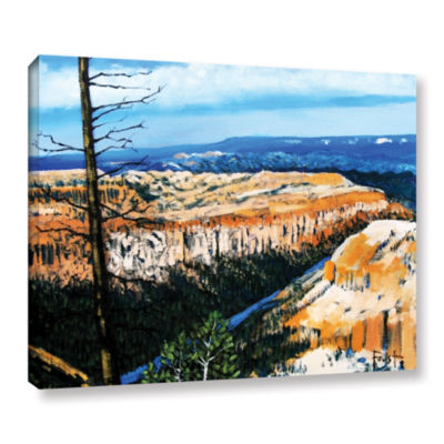 Brushstone Mountain Tops Blue Sky Gallery WrappedCanvas Wall Art