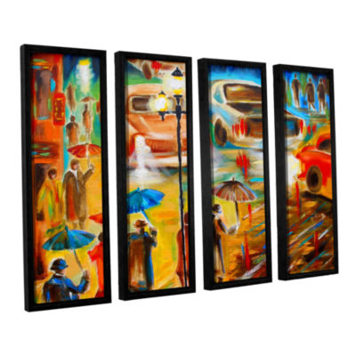 Brushstone In Italy Even Rain is Beautiful 4-pc. Floater Framed Canvas Wall Art