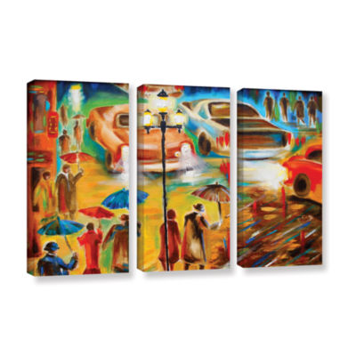 Brushstone Brushstone In Italy Even Rain is Beautiful 3-pc. Gallery Wrapped Canvas Wall Art