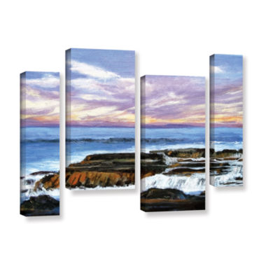 Brushstone Brushstone Rolling Water 4-pc. GalleryWrapped Staggered Canvas Wall Art