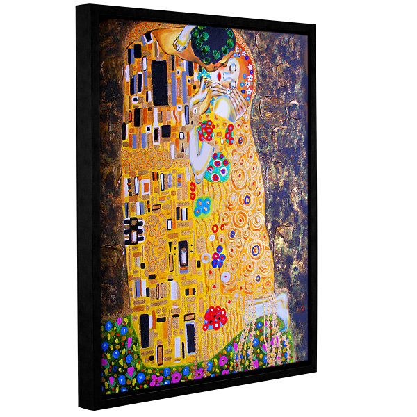 Brushstone My Klimt Kiss Gallery Wrapped Framed Canvas Wall Art