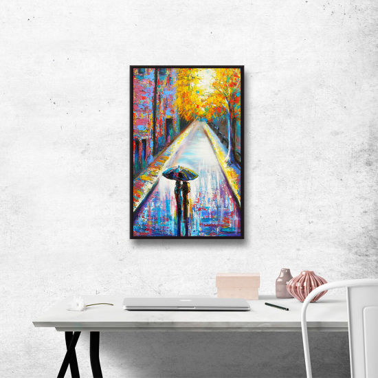 Brushstone Paris Back Street Magic Gallery WrappedFloater-Framed Canvas Wall Art