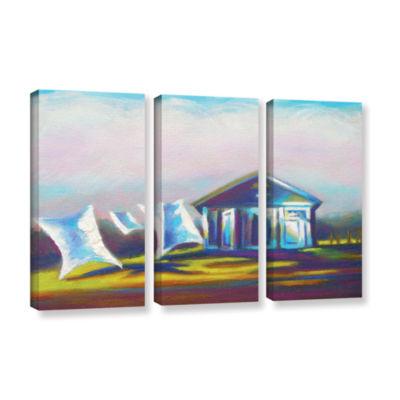 Brushstone Brushstone March Laundry 3-pc. GalleryWrapped Canvas Wall Art