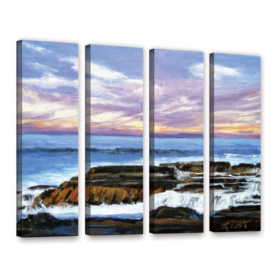 Brushstone Rolling Water 4-pc. Gallery Wrapped Canvas Wall Art