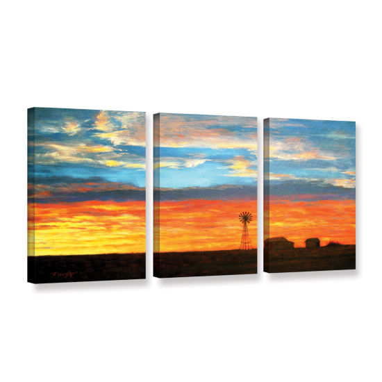 Brushstone Brushstone Farmville 3-pc. Gallery Wrapped Canvas Wall Art