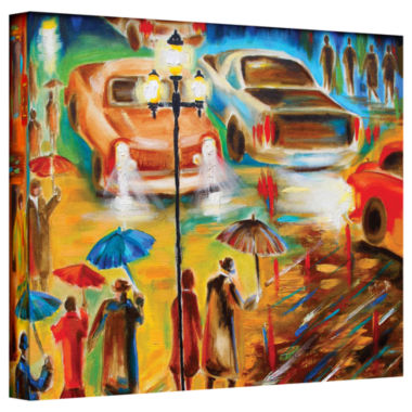 Brushstone Brushstone In Italy Even Rain is Beautiful Gallery Wrapped Canvas Wall Art