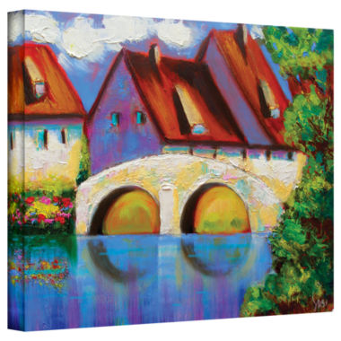 Brushstone Brushstone German Village on Rhine Gallery Wrapped Canvas Wall Art