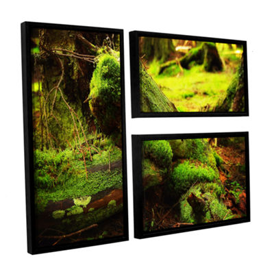 Brushstone Into the Greens 3-pc. Floater Framed Canvas Wall Art