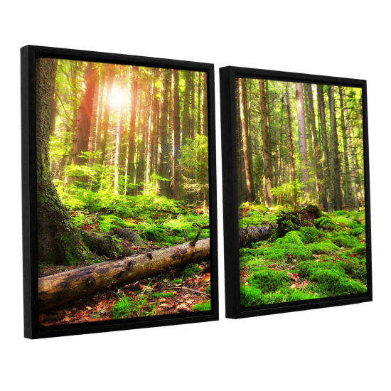 Brushstone Brushstone Back to Green 2-pc. FloaterFramed Canvas Wall Art