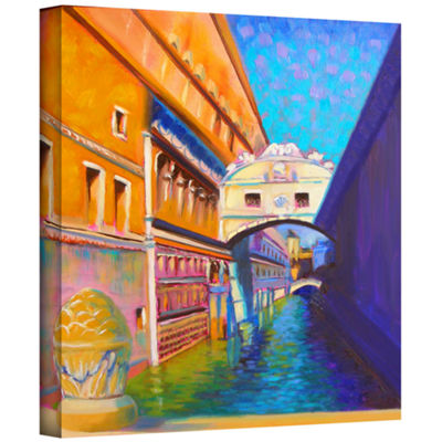 Brushstone Venezia Ponte di Sospiri Gallery Wrapped Canvas Wall Art