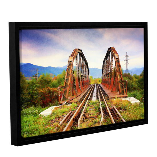 Brushstone Brushstone Iron Bridge Gallery WrappedFloater-Framed Canvas Wall Art
