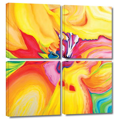 Brushstone Secret Life of Lily 4-pc. Square Gallery Wrapped Canvas Wall Art