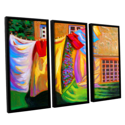 Brushstone Brushstone French Laundry 3-pc. FloaterFramed Canvas Wall Art