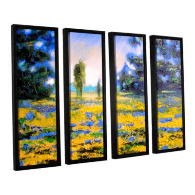 Brushstone Brushstone Sea of Butter 4-pc. FloaterFramed Canvas Wall Art