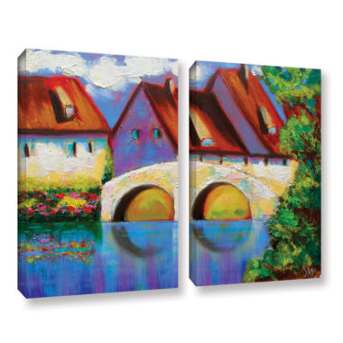 Brushstone German Village on Rhine 2-pc. Gallery Wrapped Canvas Wall Art