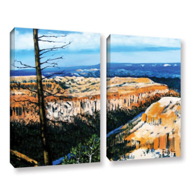 Brushstone Mountain Tops Blue Sky 2-pc. Gallery Wrapped Canvas Wall Art