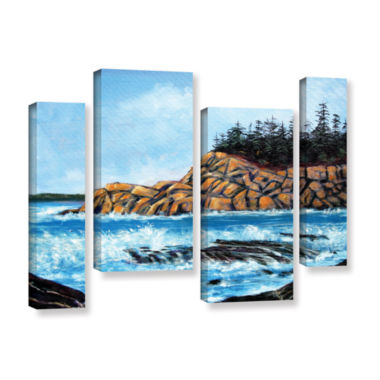 Brushstone Roll Tide 4-pc. Gallery Wrapped Staggered Canvas Wall Art