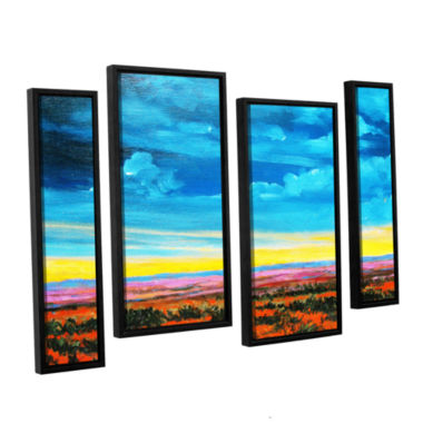Brushstone Brushstone Riders on the Storm 4-pc. Floater Framed Staggered Canvas Wall Art