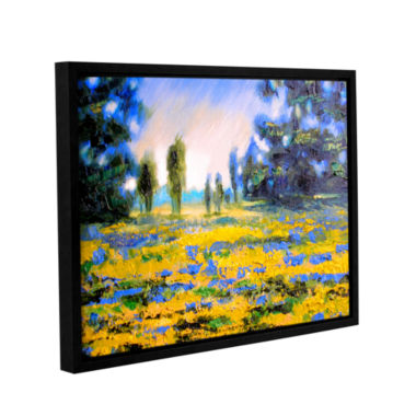 Brushstone Sea of Butter Gallery Wrapped Floater-Framed Canvas Wall Art