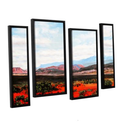 Brushstone Joyride 4-pc. Floater FramedStaggered Canvas Wall Art