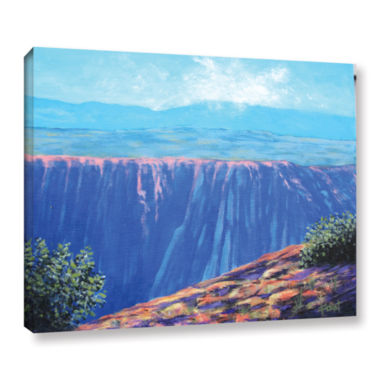 Brushstone Brushstone Mountain Dropoff Gallery Wrapped Canvas Wall Art