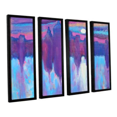 Brushstone Venice 4-pc. Floater Framed Canvas WallArt