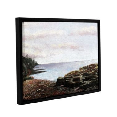 Brushstone Lakeside Gallery Wrapped Floater-FramedCanvas Wall Art