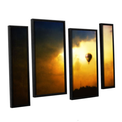 Brushstone Brushstone Close Enough 4-pc. Floater Framed Staggered Canvas Wall Art