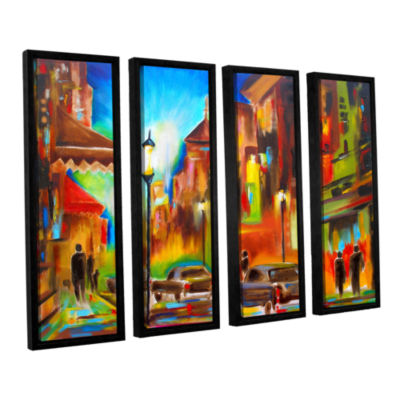 Brushstone Twilight in Treviso 4-pc. Floater Framed Canvas Wall Art