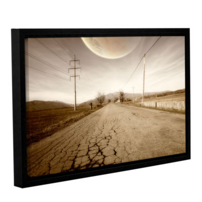 Brushstone The Road-Planet Side GalleryWrapped Floater-Framed Canvas Wall Art