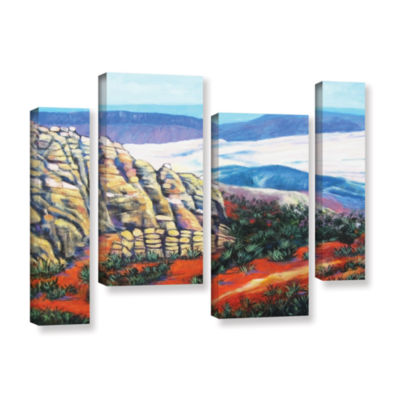 Brushstone Brushstone Rocky Mountain Living 4-pc.Gallery Wrapped Staggered Canvas Wall Art