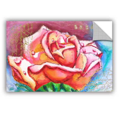 Brushstone Pink Rose Dew Removable Wall Decal