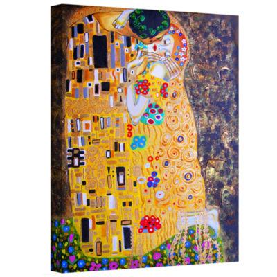Brushstone Brushstone My Klimt Kiss Gallery Wrapped Canvas Wall Art