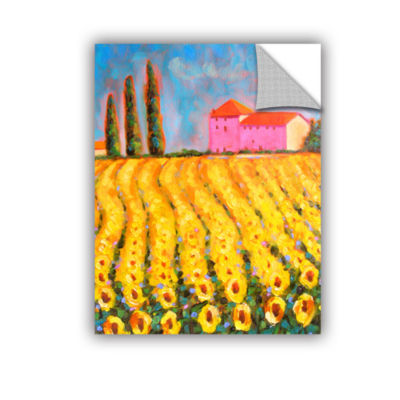 Brushstone Brushstone Cryress and Sunflowers at Vall De Lot Removable Wall Decal
