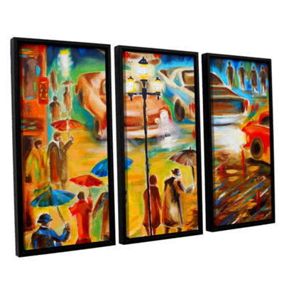 Brushstone Brushstone In Italy Even Rain is Beautiful 3-pc. Floater Framed Canvas Wall Art