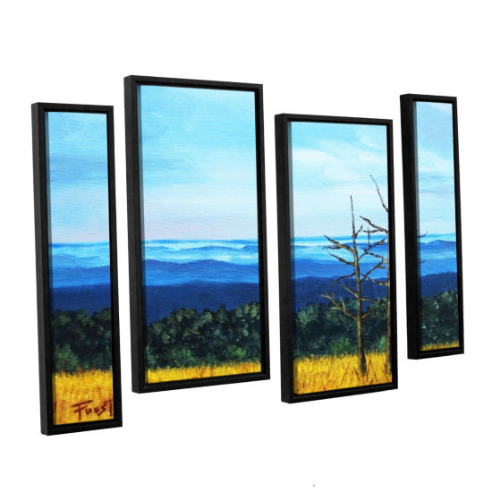 Brushstone Serene Mountain Tops 4-pc. Floater Framed Staggered Canvas Wall Art