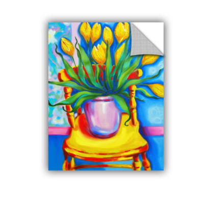 Brushstone Brushstone Yellow Tulips in van Goghs Chair Removable Wall Decal