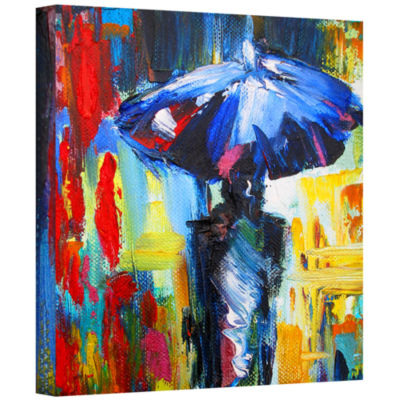 Brushstone Brushstone Downtown Stroll Gallery Wrapped Canvas Wall Art
