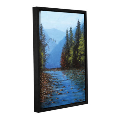 Brushstone Fall Creek Gallery Wrapped Floater-Framed Canvas Wall Art