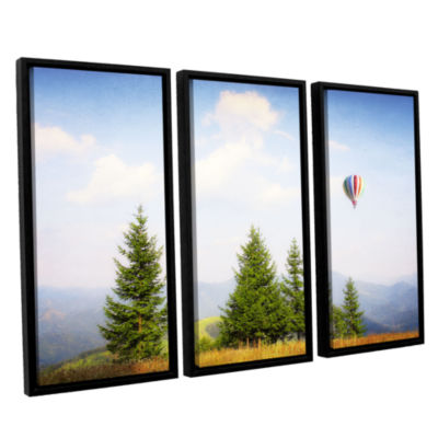 Brushstone Brushstone Up High 3-pc. Floater FramedCanvas Wall Art