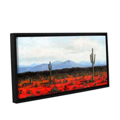 Brushstone Volumes Gallery Wrapped Floater-FramedCanvas Wall Art