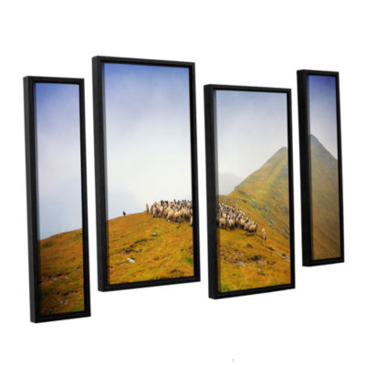 Brushstone Far in the Distance 4-pc. Floater Framed Staggered Canvas Wall Art
