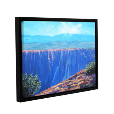 Brushstone Brushstone Mountain Dropoff Gallery Wrapped Floater-Framed Canvas Wall Art