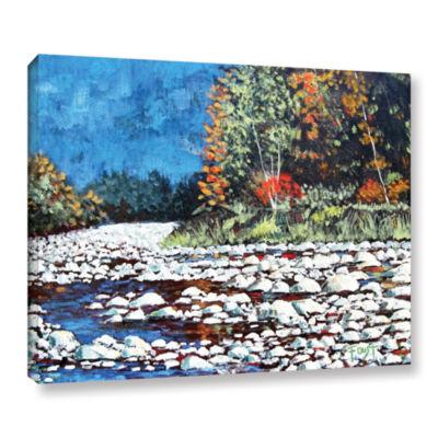 Brushstone Pebble Creek Gallery Wrapped Canvas Wall Art