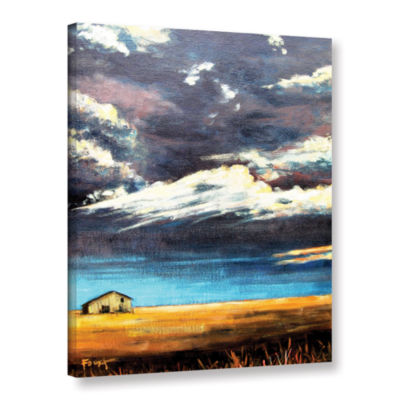Brushstone Lone Barn Gallery Wrapped Canvas Wall Art