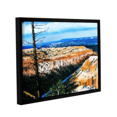 Brushstone Brushstone Mountain Tops Blue Sky Gallery Wrapped Floater-Framed Canvas Wall Art