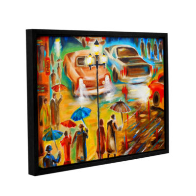 Brushstone In Italy Even Rain is Beautiful GalleryWrapped Floater-Framed Canvas Wall Art