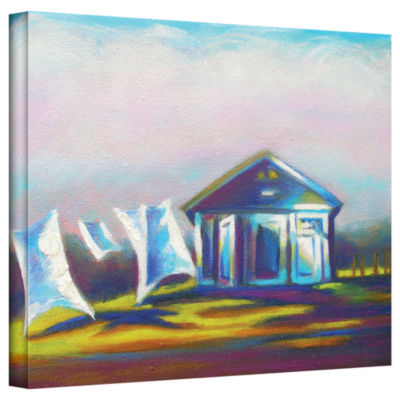 Brushstone Brushstone March Laundry Gallery Wrapped Canvas Wall Art