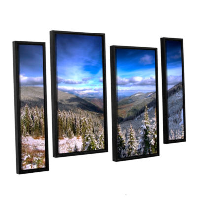 Brushstone Winter Vision 4-pc. FloaterFramed Staggered Canvas Wall Art